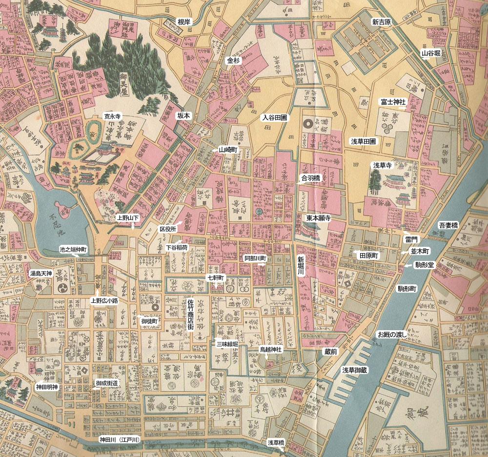 近所の江戸の頃・地図