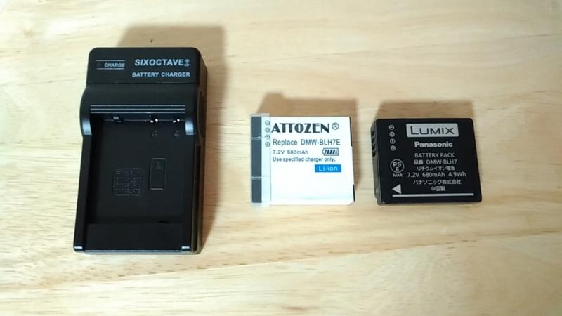 社外品充電器とバッテリー