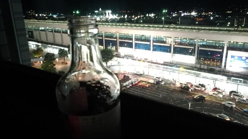 スマホカメラで冷えたビン