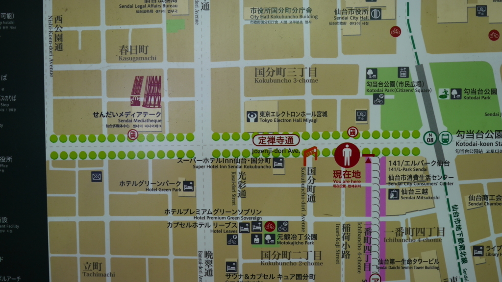 定禅寺通りの地図