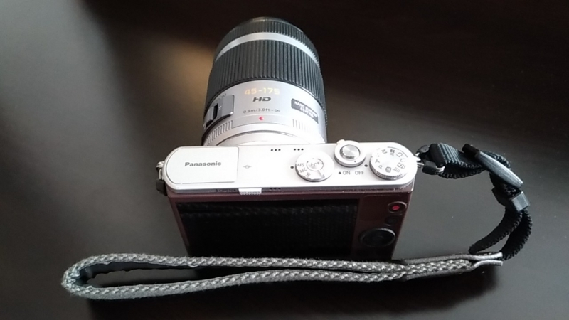 液晶側から見たH-PS45175を装着済みのカメラ