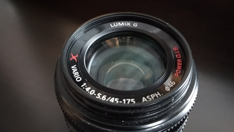 レンズ正面い書かれたH-PS45175の名称