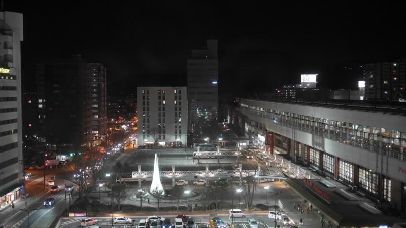 夜の福島駅西口