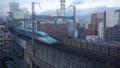 昼の新幹線先頭車両