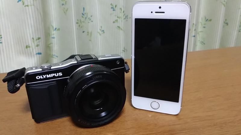iPhone5SとE-PM2を比較