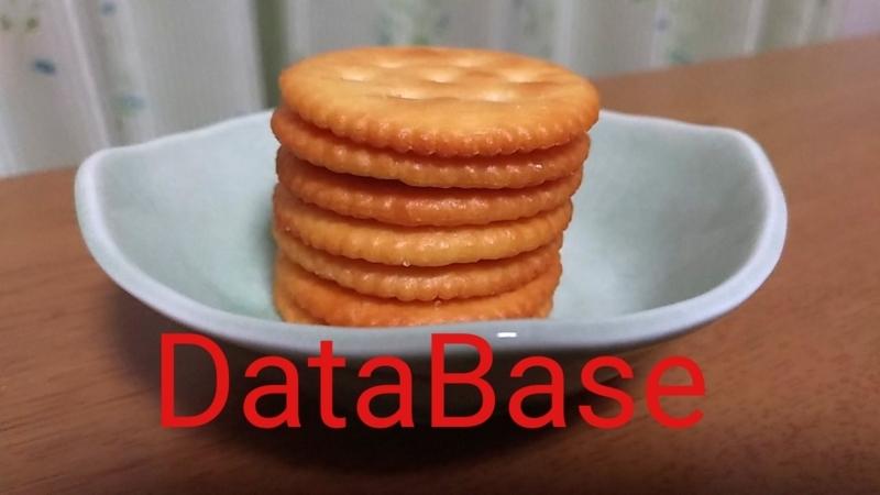 データベースのイメージに似ているお菓子