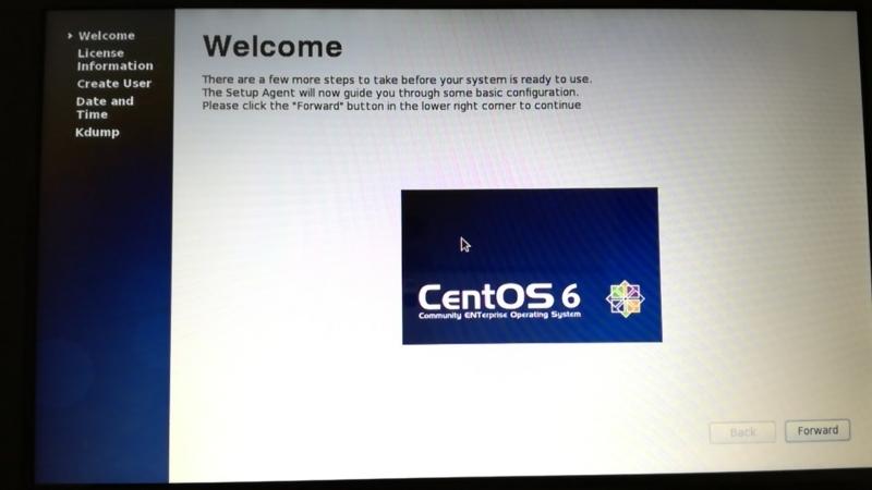 CentOS6のインストール