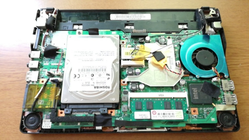 メモリ換装後のマザーボード