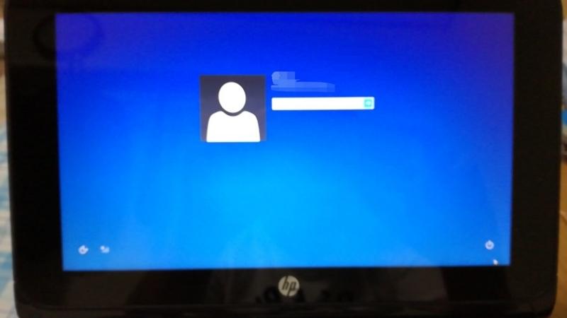 Windows8のログイン画面