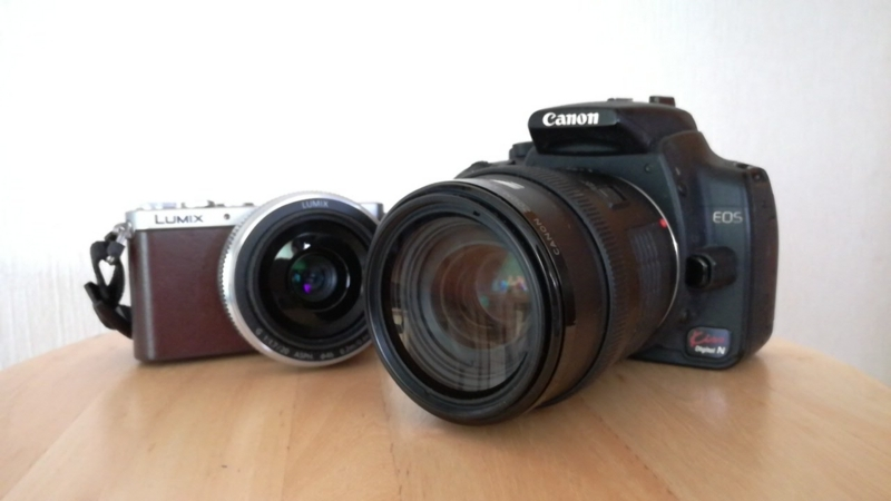 LUMIX_GM1SとEOS_Kiss_Digital_N