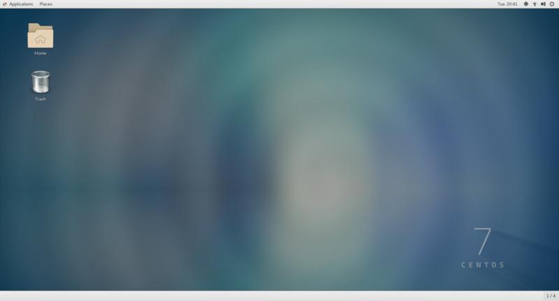 GUI起動直後のデスクトップ画面