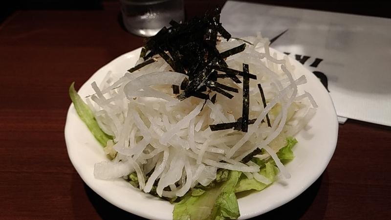 ステーキ屋の大根サラダ