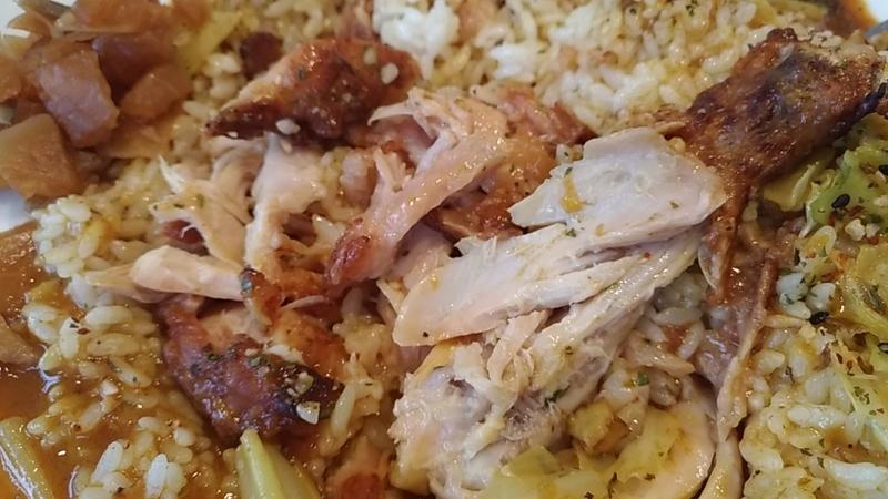 ほぐれた鶏肉