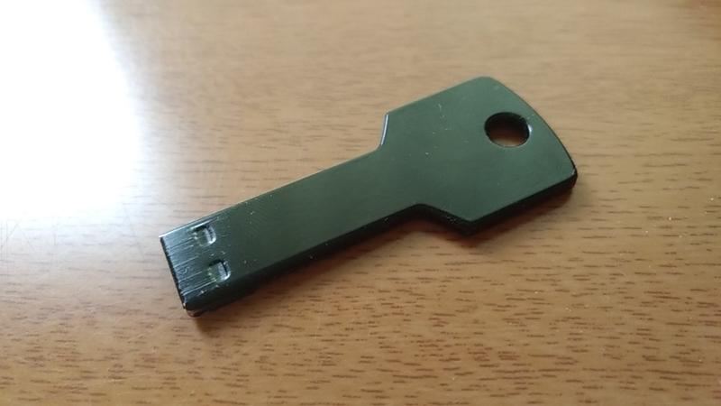 USBメモリの裏側