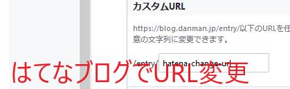はてなブログでURL変更