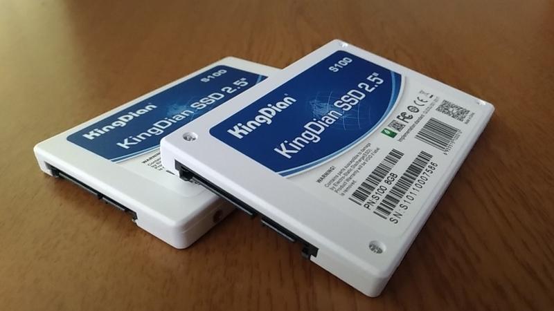 容量が異なるKingDian_SSD