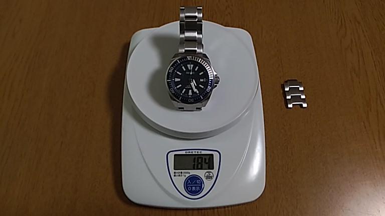 重さは184g