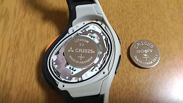 新しいCR2025へ交換