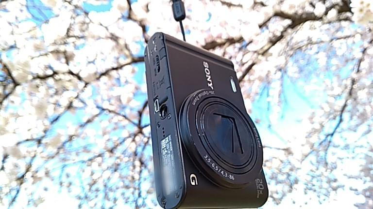 満開の桜とDSC-WX350コンデジ