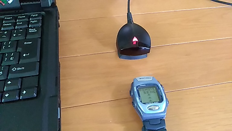 PAD-2の赤いランプが点滅