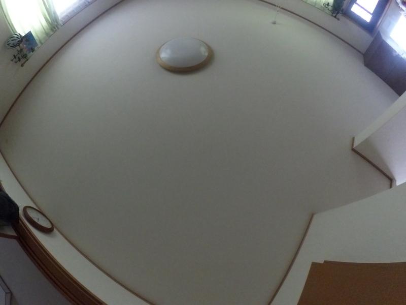 天井を撮影