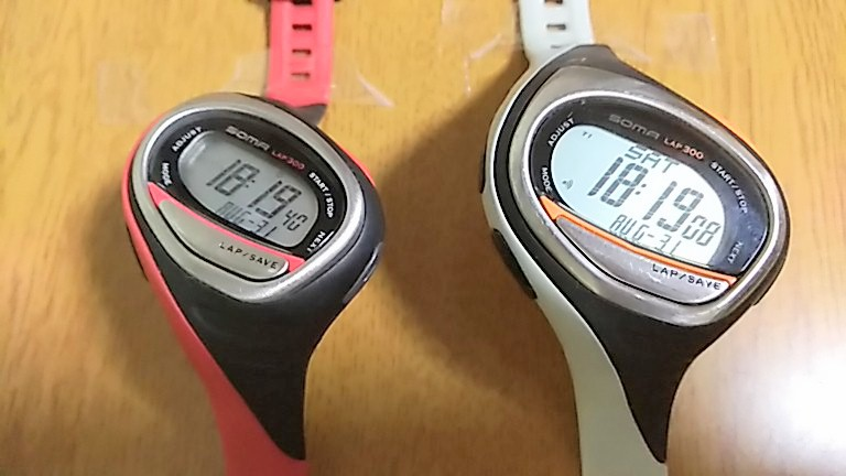時刻表示の大きさ比較