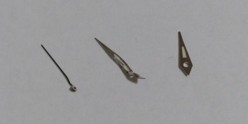 変形した時計の針