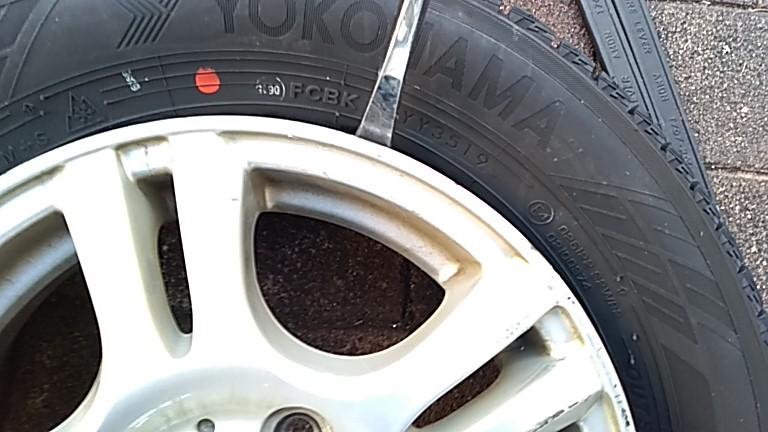 タイヤの手組み完了
