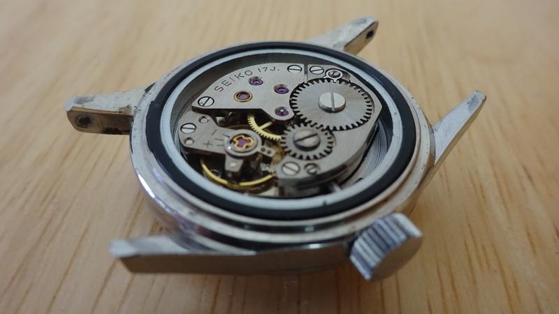 手巻き時計の機械