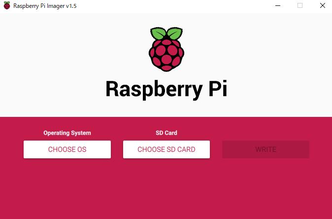 RaspberrypiOSインストールソフト起動画面