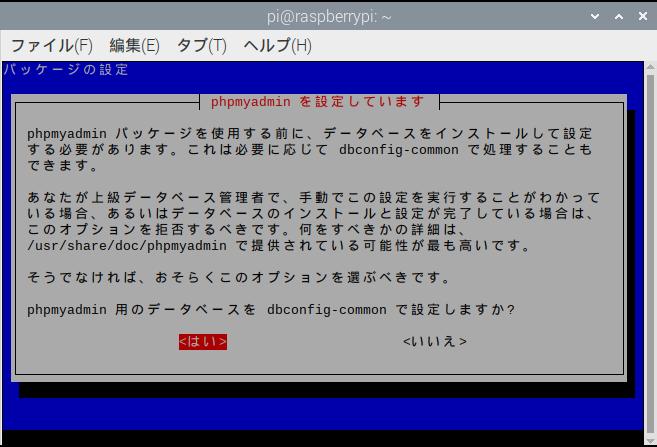 dbconfig-commonでの設定許可