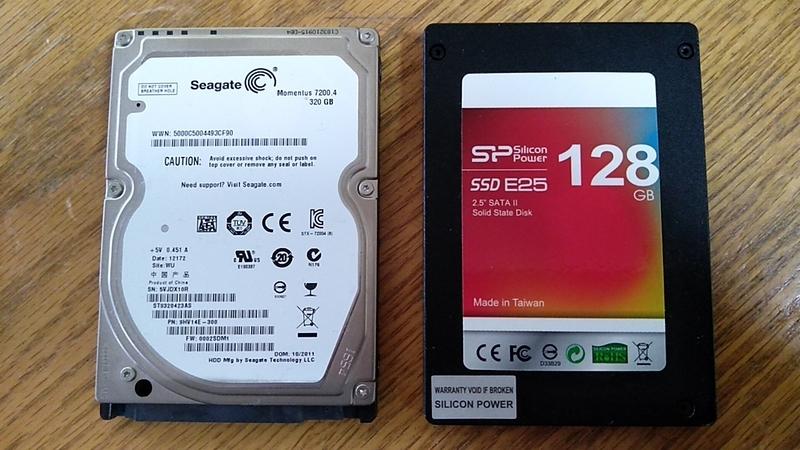 シリコンパワーSSD128GB