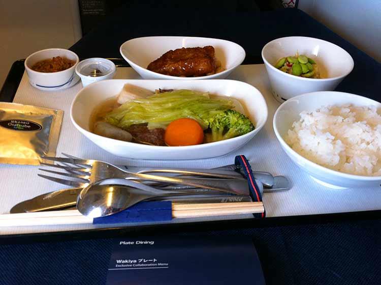 ANA ビジネスクラス機内食