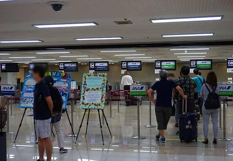 金浦空港ANAチェックインカウンター