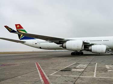 沖止め 南アフリカ航空 ヨハネスブルグ