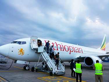 沖止め エチオピア航空 アディスアベバ