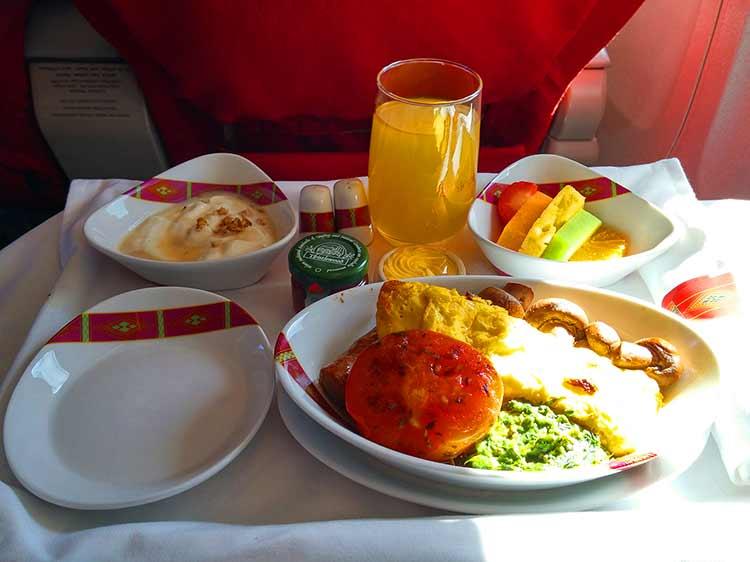 エチオピア航空 ビジネスクラス機内食
