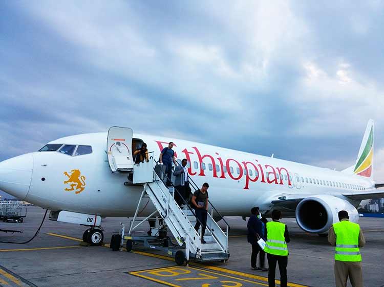 エチオピア航空 アディスアベバ乗換