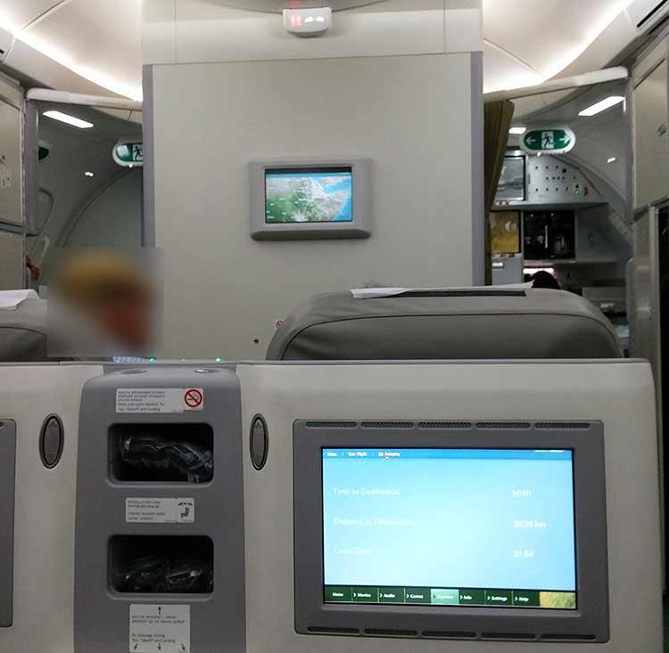 エチオピア航空 ビジネスクラス機内