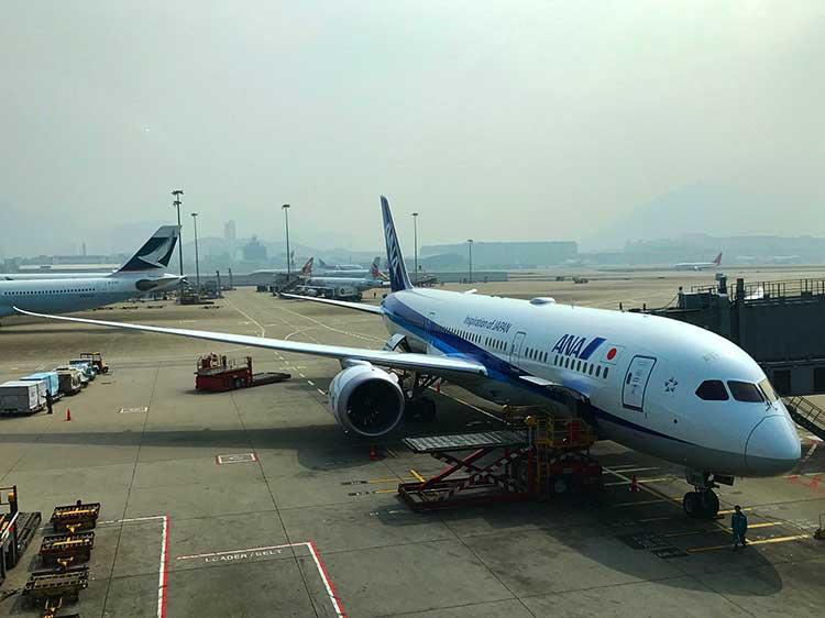 ANA B787-9 HKG