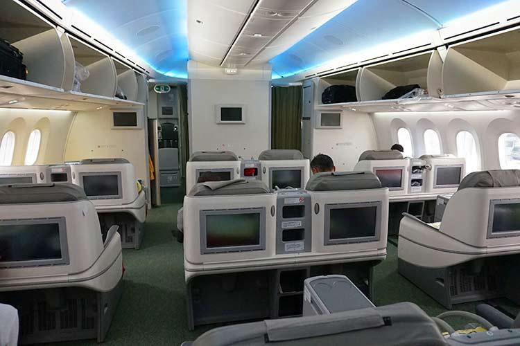 エチオピア航空のビジネスクラス機内