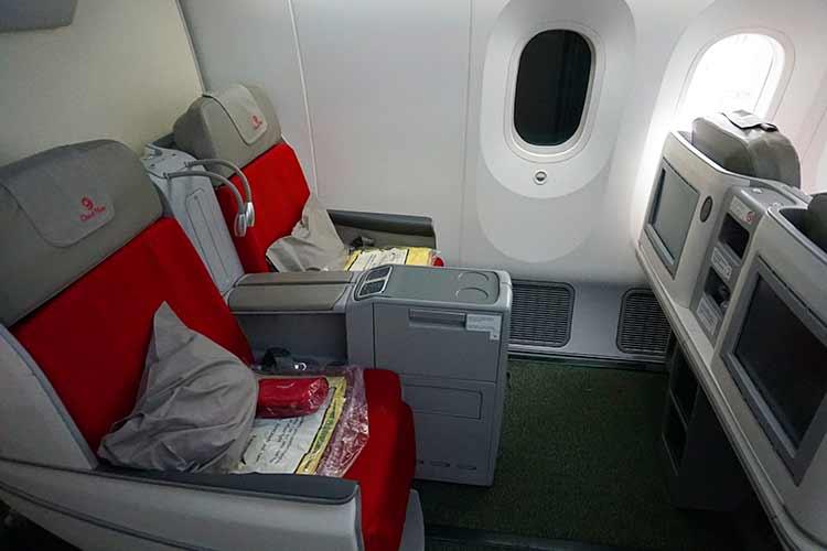 エチオピア航空のビジネスクラス シート
