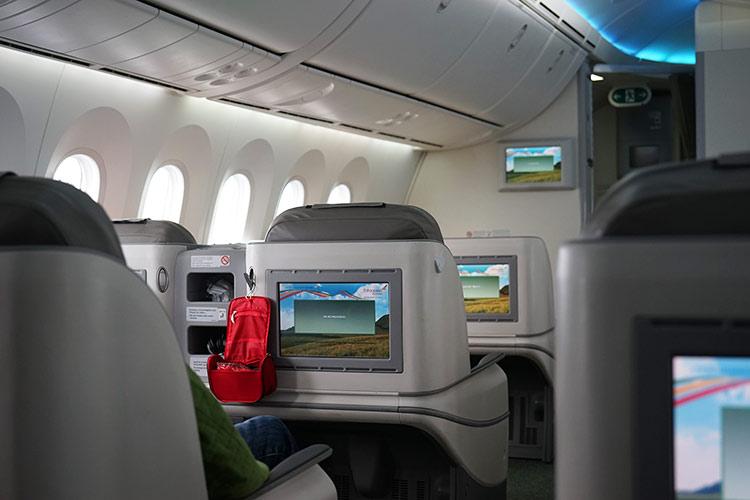 エチオピア航空のビジネスクラス機内2