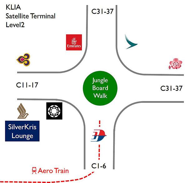 クアラルンプール空港ラウンジ地図