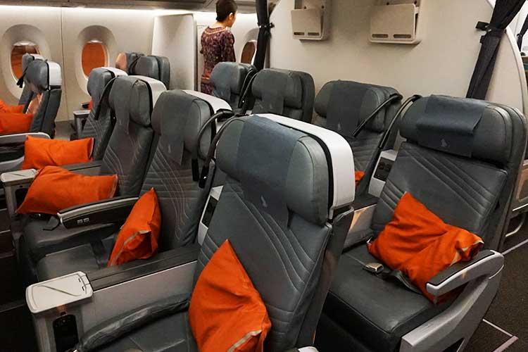 シンガポール航空 A350 プレミアムエコノミー シート