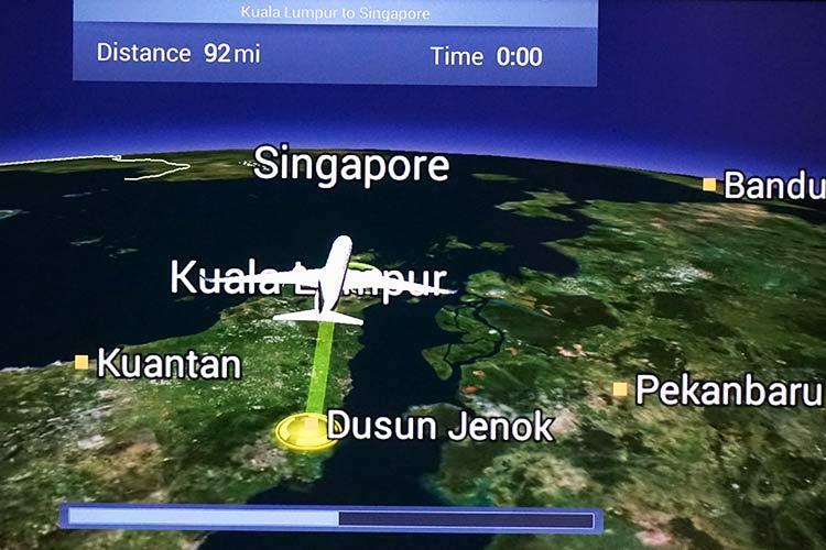 シンガポール航空 フライトルート