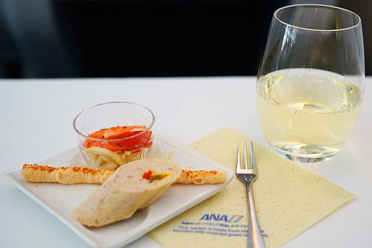 ANA ビジネスクラス 機内食 アミューズ