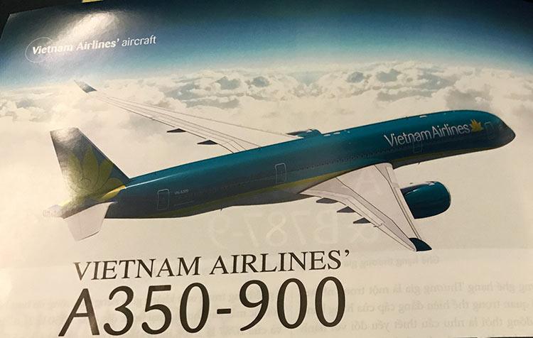 ベトナム航空 A350 機内誌