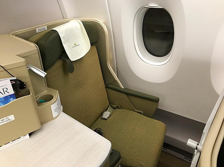 ベトナム航空 A350 ビジネスクラスシート