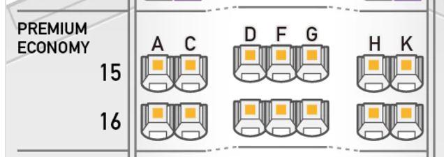 ANA 787-9 プレミアムエコノミー シートマップ1